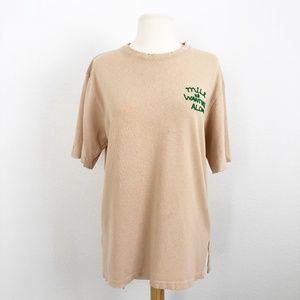 Vintage Designer Shirt Beige Size L